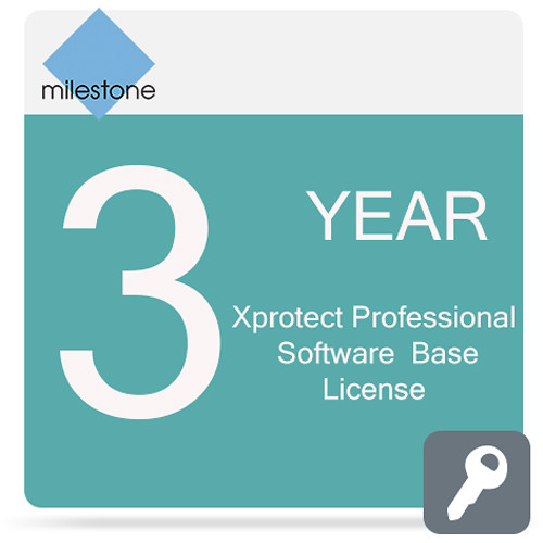 Milestone Care Premium for XProtect Professional Base License Software (3 Years)