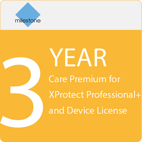 Milestone Care Premium for XProtect Professional+ & Device License (3-Year)