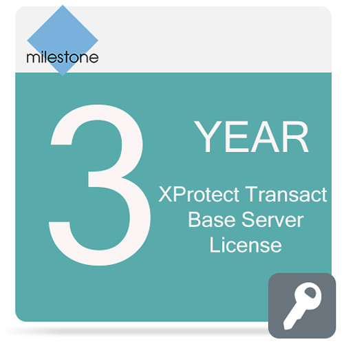 Milestone Care Premium for XProtect Transact Base Server License Software (3-Years)