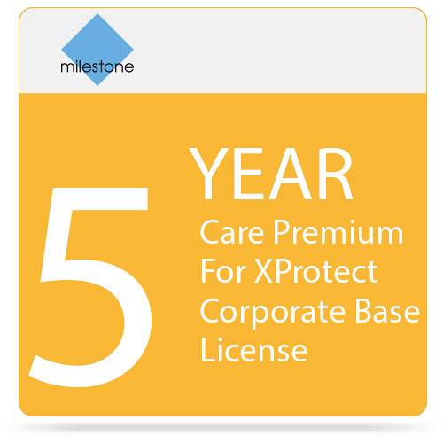 Milestone Care Premium for XProtect Corporate Base License (5-Year)