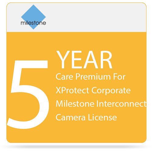 Milestone Care Premium for XProtect Corporate Interconnect Camera License (5-Year)