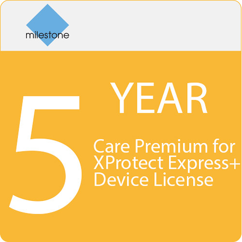 Milestone Care Premium for XProtect Express+ Device License (5-Year)