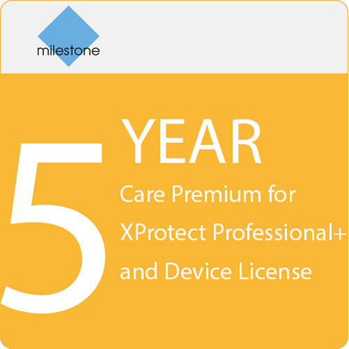 Milestone Care Premium for XProtect Professional+ Device License (5-Year)