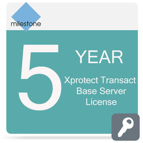 Milestone Care Premium for XProtect Transact Base Server License Software (5-Years)