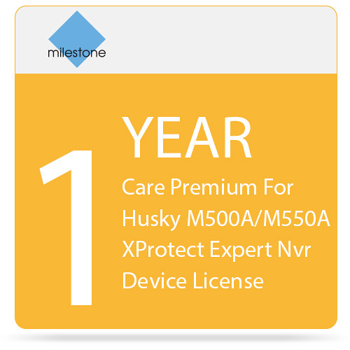 Milestone Care Premium for Husky M500A and M550A with XProtect Expert NVR Device License (1-Year)