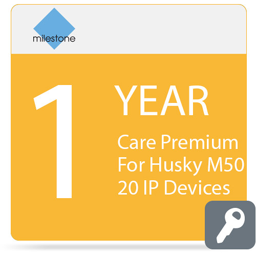 Milestone Care Premium for Husky M50 (1-Year, 20 IP Devices)