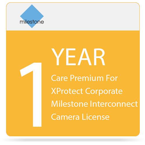 Milestone Care Premium for XProtect Corporate Interconnect Camera License (1-Year)