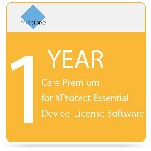 Milestone Care Premium for XProtect Essential Device License Software (1-Year)