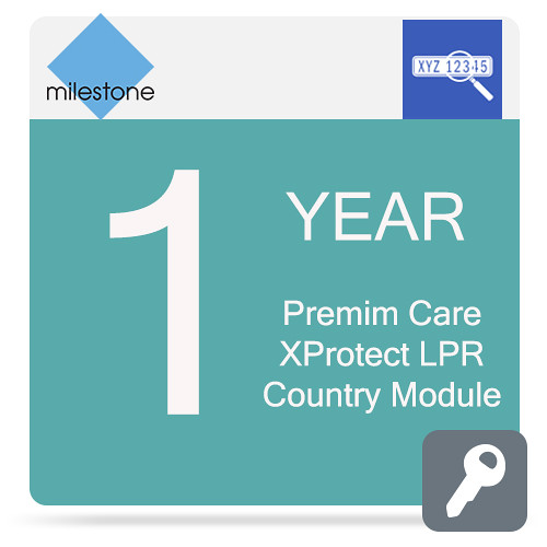 Milestone Care Premium for XProtect LPR Country Module (1-Year)