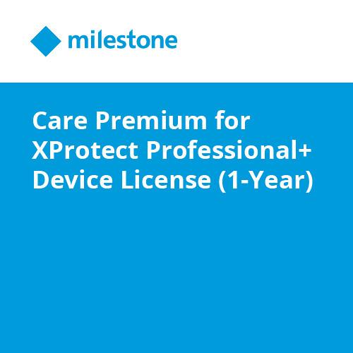 Milestone Care Premium for XProtect Professional+ & Device License (1-Year)