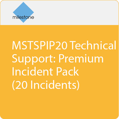Milestone MSTSPIP20 Technical Support: Premium Incident Pack (20 Incidents)