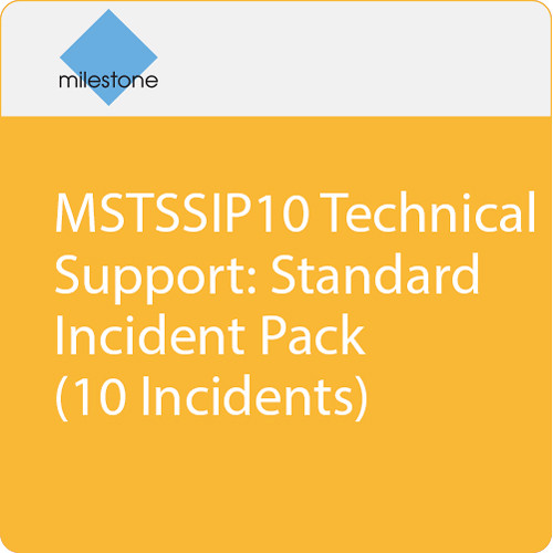 Milestone MSTSSIP10 Technical Support: Standard Incident Pack (10 Incidents)