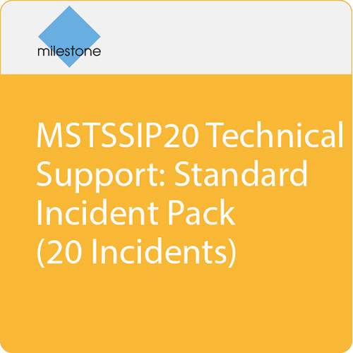 Milestone MSTSSIP20 Technical Support: Standard Incident Pack (20 Incidents)