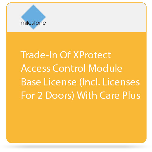 Milestone Trade-In of XProtect Access Control Module Base License with Care Plus (2 Doors)
