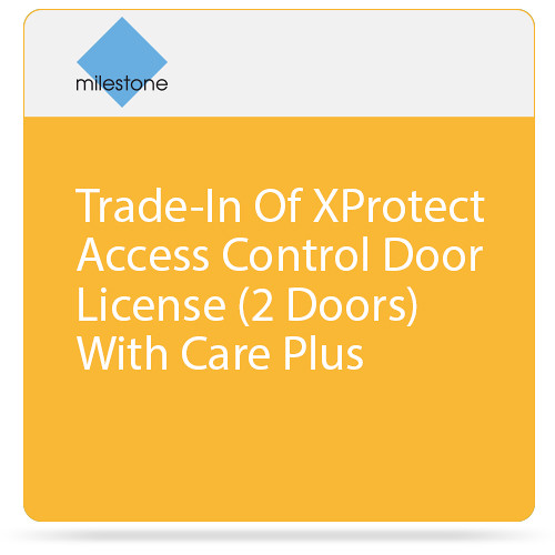 Milestone Trade-In of XProtect Access Control Door License with Care Plus (2 Doors)