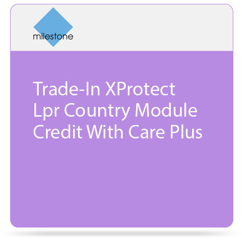 Milestone Trade-In of XProtect LPR Country Module License with Care Plus