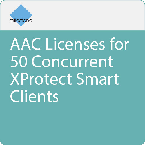 Milestone AAC Licenses for 50 Concurrent XProtect Smart Clients
