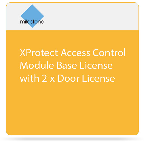 Milestone XProtect Access Control Module Base License with 2 x Door License