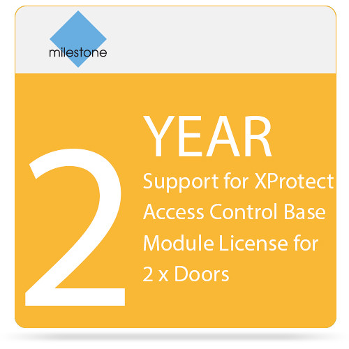 Milestone 2-Year SUP for XProtect Access Control Base Module License for 2 x Doors
