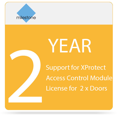 Milestone 2-Year SUP for XProtect Access Control Module License for 2 x Doors