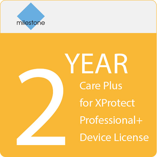 Milestone Care Plus for XProtect Professional+ Device License (2-Year)