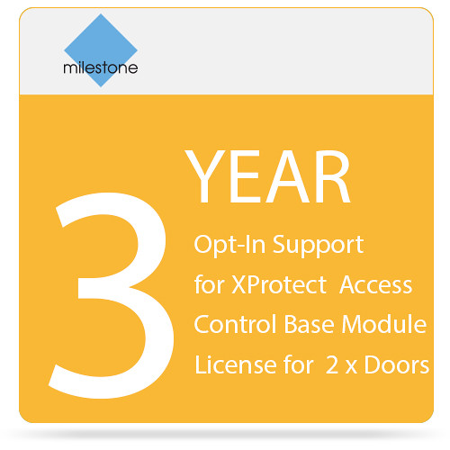 Milestone 3-Year Opt-In SUP for XProtect Access Control Base Module License for 2 x Doors