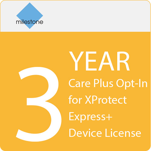 Milestone Care Plus Opt-In for XProtect Express+ Device License (3-Year)