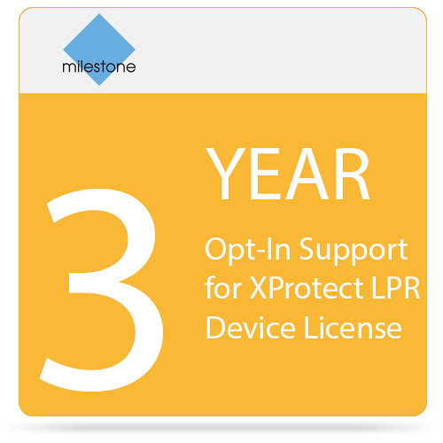 Milestone 3-Year Opt-In SUP for XProtect LPR Device License
