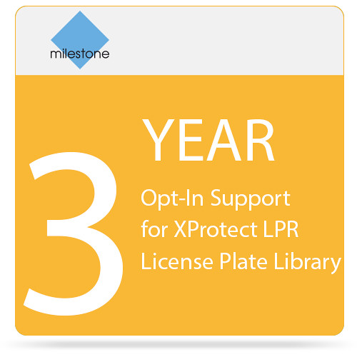 Milestone 3-Year Opt-In SUP for XProtect LPR License Plate Library