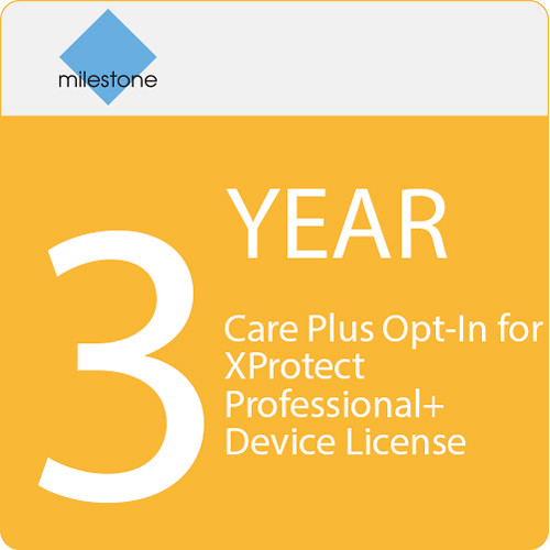 Milestone Care Plus Opt-In for XProtect Professional+ Device License (3-Year)