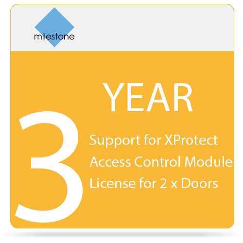 Milestone 3-Year SUP for XProtect Access Control Module License for 2 x Doors
