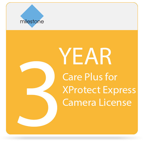 Milestone 3-Year Care Plus for XProtect Express Camera License