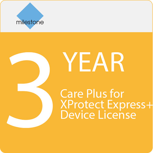 Milestone Care Plus for XProtect Express+ Device License (3-Year)