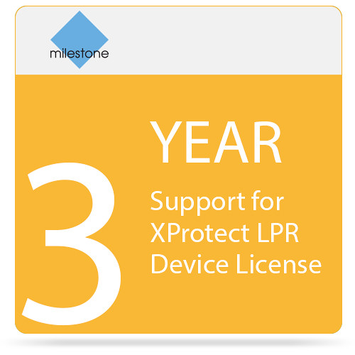 Milestone 3-Year SUP for XProtect LPR Device License