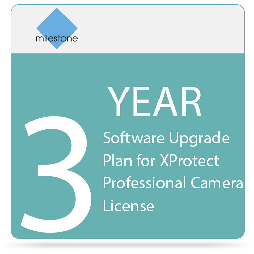Milestone 3-Year Software Upgrade Plan for XProtect Professional Camera License