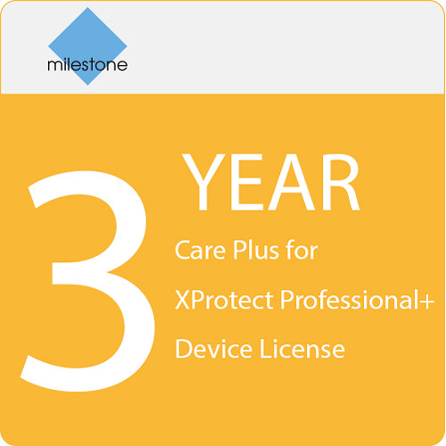 Milestone Care Plus for XProtect Professional+ Device License (3-Year)