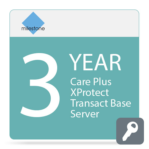 Milestone Care Plus for XProtect Transact Base Server (3-Years)