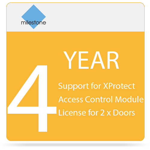 Milestone 4-Year SUP for XProtect Access Control Module License for 2 x Doors