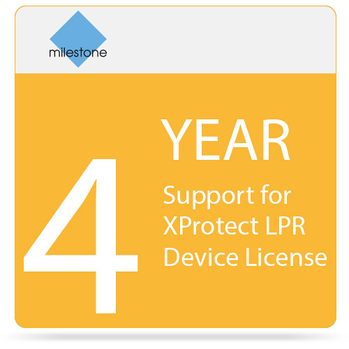 Milestone 4-Year SUP for XProtect LPR Device License