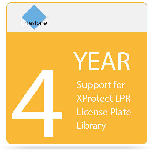 Milestone 4-Year SUP for XProtect LPR License Plate Library
