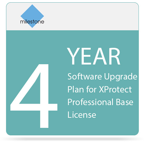 Milestone 4-Year Software Upgrade Plan for XProtect Professional Base License