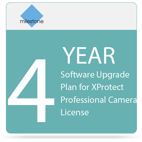 Milestone 4-Year Software Upgrade Plan for XProtect Professional Camera License