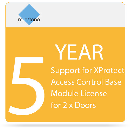 Milestone 5-Year SUP for XProtect Access Control Base Module License for 2 x Doors