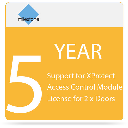 Milestone 5-Year SUP for XProtect Access Control Module License for 2 x Doors