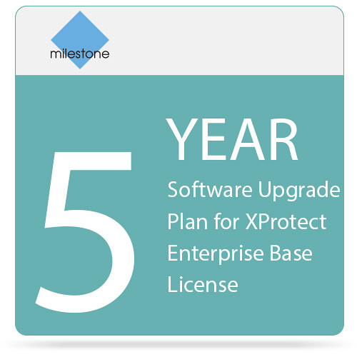 Milestone 5-Year Software Upgrade Plan for XProtect Enterprise Base License