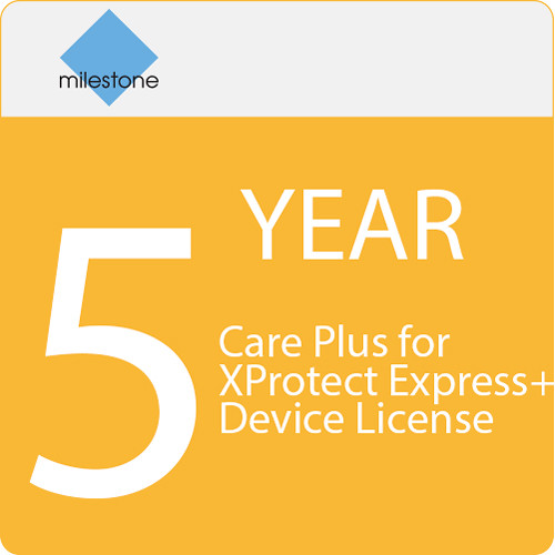 Milestone Care Plus for XProtect Express+ Device License (5-Year)