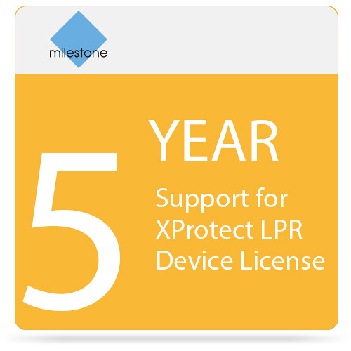 Milestone 5-Year SUP for XProtect LPR Device License