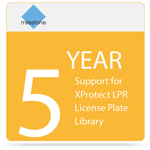 Milestone 5-Year SUP for XProtect LPR License Plate Library
