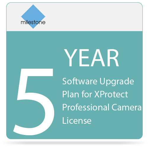 Milestone 5-Year Software Upgrade Plan for XProtect Professional Camera License