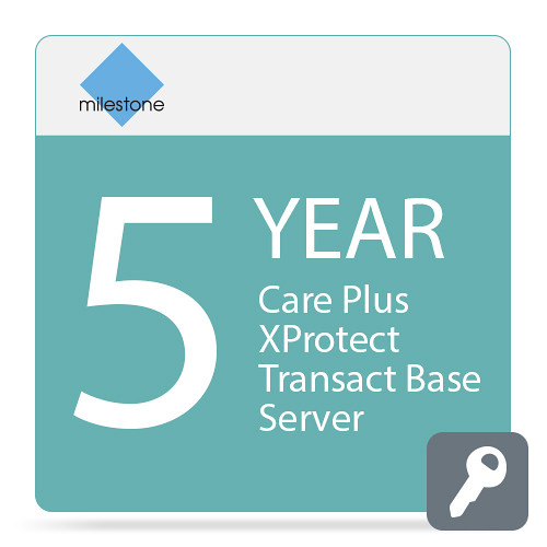 Milestone Care Plus for XProtect Transact Base Server (5-Years)
